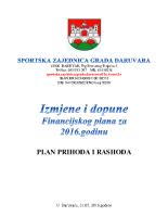 Izmjene i dopune financijskog plana za 2016 0531