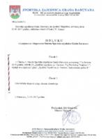 Ovjerena odluka o izmjenama i dopunama Statuta 2017