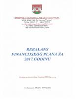 Rebalans i odluka o rebalansu Fin.plana za 2017 0919