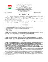 Zapisnik sa 34.Sjednice Izvršnog  2015 0910