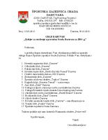Zahtjev za uvrštenje u proračun 2014. godine