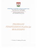 Prijedlog Financijskog plana za 2019. godinu