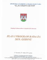 Prijedlog Plana i programa rada za 2019. godinu