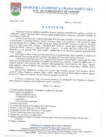 Zapisnik Redovne izvještajne Skupštine SZG Daruvara 2019 0630