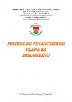 Financijski plan za 2020. godinu