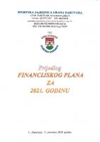 Prijedlog Financijskog plana za 2021. godinu
