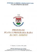 Prijedlog Plana rada za 2021. godinu