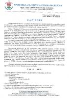 Zapisnik Redovne Izborne i izvještajne Skupštine SZG Daruvara 2021 0503